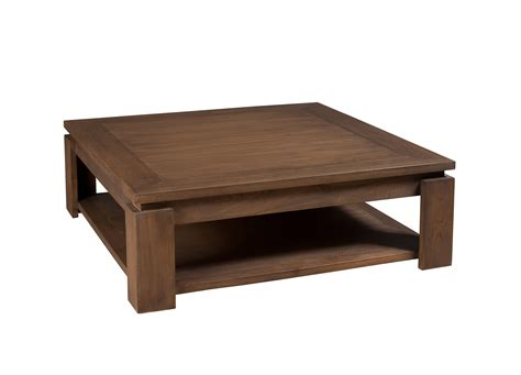 Table Basse Carrç E Bois Table Basse Carree Bois