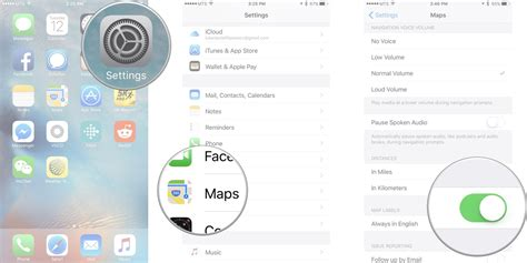 switch map how to change settings for maps on iphone and imore