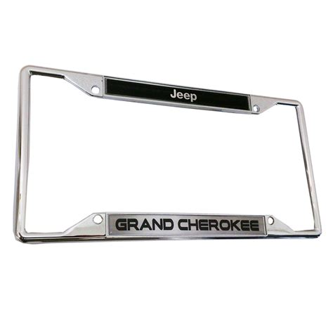 Jeep License Plate Frame Jeep Grand Licensed 3d Raised Letters Zinc Chrome