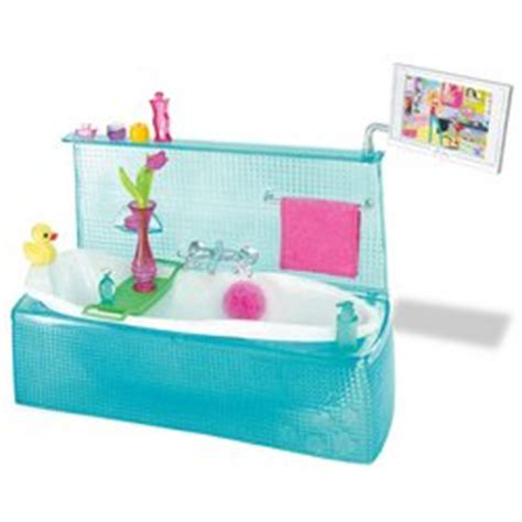 barbie bathtub amazon com barbie my house bathtub toys games
