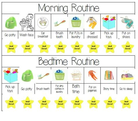 printable toddler routine chart 17 best ideas about morning routine chart on pinterest
