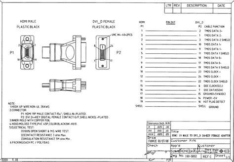 hdmi to dvi d wiring diagram wiring diagram with description