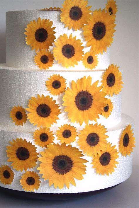 diy edible decorations edible flower cake decorations yellow edible sunflowers