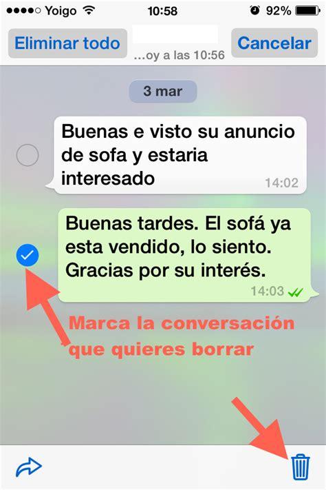 imagenes whatsapp borrar c 243 mo puedes eliminar mensajes de whatsapp desde tu