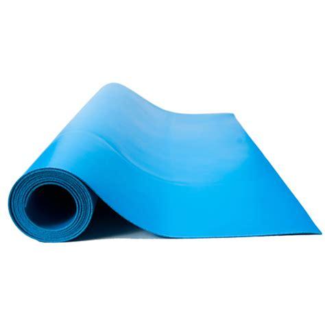 2 ft x 20 ft esd vinyl mat roll blue color bertech