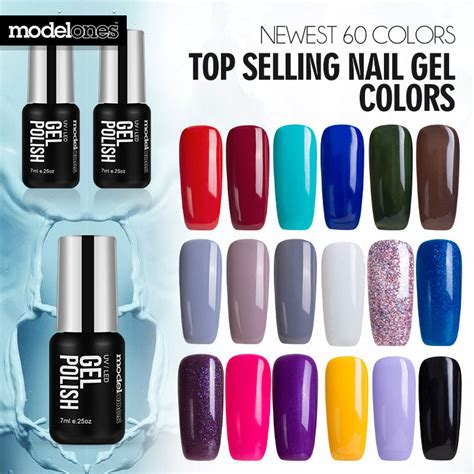 cure nail polish with uv l modelones french manicure style nail gel polish classic