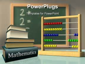 Free Math Powerpoint Templates For Teachers by Powerpoint Template Mathematics Books And Abacus In Front