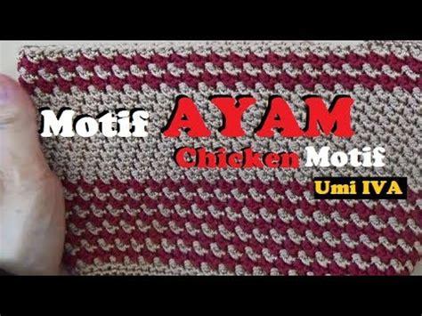 Dompet Rajut Sisik 1 Ruang crochet tutorial dompet rajut motif bunga tulip fl