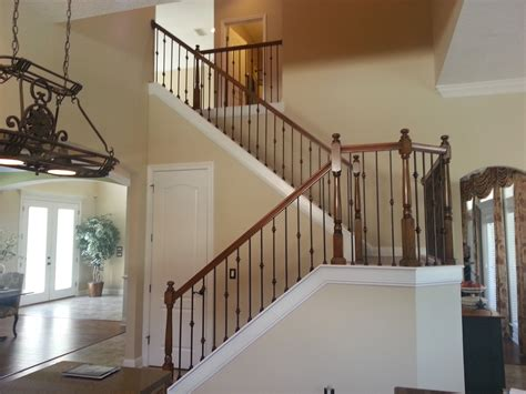 metal banister ideas wrought iron stair railing styles for trendy staircase