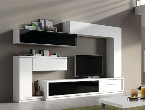 modern living room wall storage system by baixmoduls