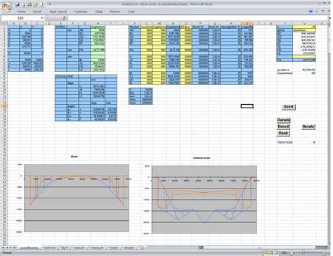 bridge optimizing genetic algorithm in excel vba