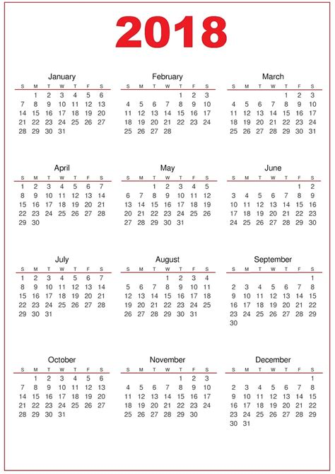 printable schedule calendar 2018 2018 calendar printable activity shelter