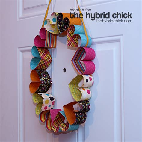 Paper Craft Hearts - paper wreath 171 the hybrid crafts stalker