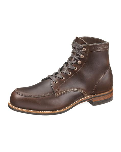 wolverine 1000 mile boot wolverine courtland 1000 mile boot in brown for lyst
