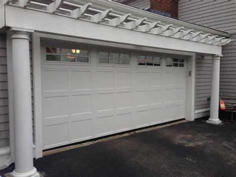 Mortland Overhead Door Steel Carriage House Garage Doors Modern Garage And Shed Boston By Mortland Overhead Door