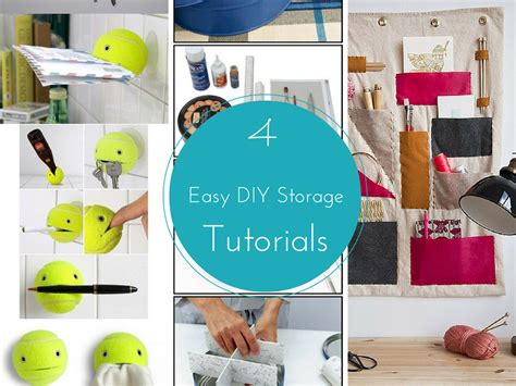 happy home diy project tutorials 4 easy diy storage ideas tutorials