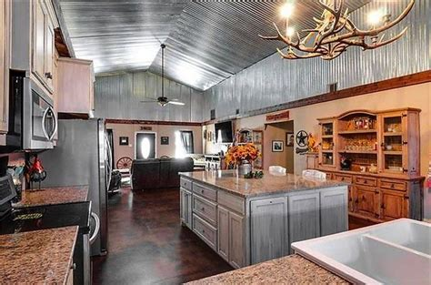 corrugated tin dominates  remarkable kitchen