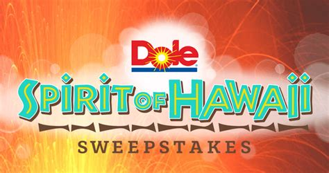 Hawaiian Airlines Sweepstakes 2016 - dolesunshine com paradise win a spirit of hawaii trip with this dole sweepstakes