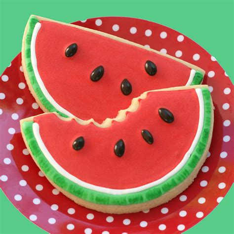 shaped cookies recipes watermelon shaped cookies