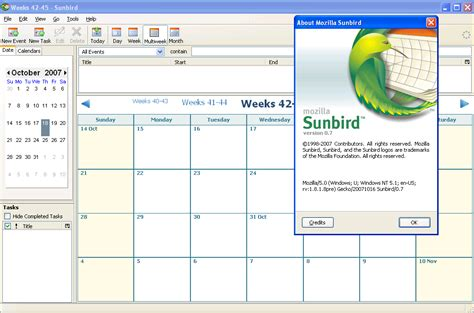 Mozilla Sunbird Themes | agenda mozilla sunbird et lightning en version 0 8