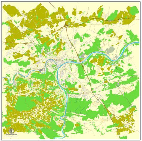 namur map namur belgium printable vector map exact city