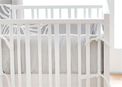 White Bumper Crib by Gray Crib Bumper White And Gray Crib Bumpers Gray Crib
