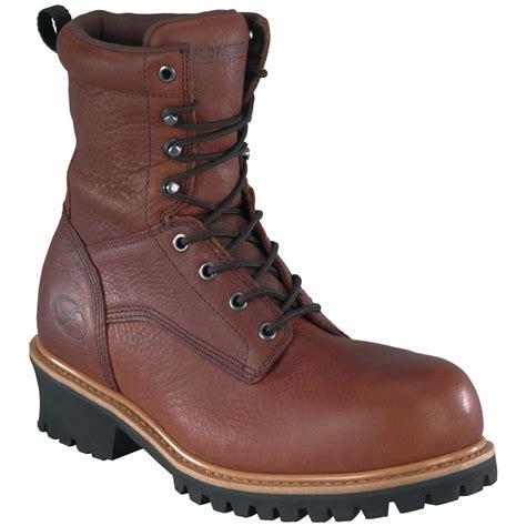 logger boots for s florsheim 174 9 quot composite toe waterproof logger boots