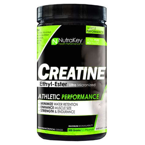 creatine no water retention nutrakey creatine ethyl ester 500g supplement central