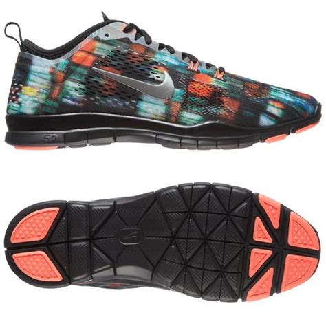 multi coloured running shoes nike free running shoe 5 0 tr fit 4 print multicolor