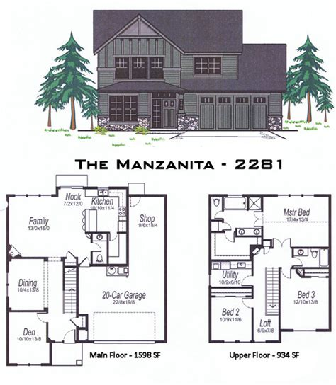 oregon home plans the manzanita 2281 sq ft