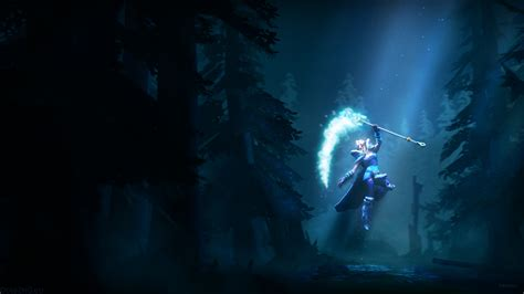 dota 2 rylai wallpaper rylai the moonlight maiden 3d art dota 2 wallpapers