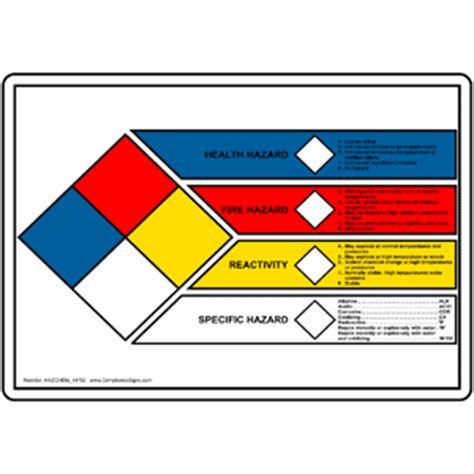 printable hazard label nfpa label template clipart best