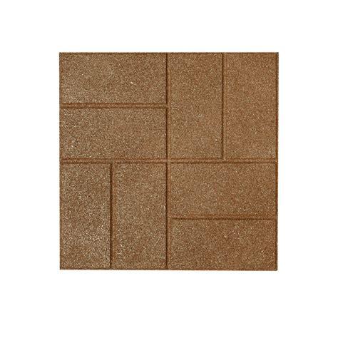lowes patio bricks shop rubberific rubber square patio common 16 in x 16 in actual 16 in h x 16 in l