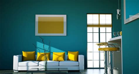 kombinasi warna cat kuning interior rumah