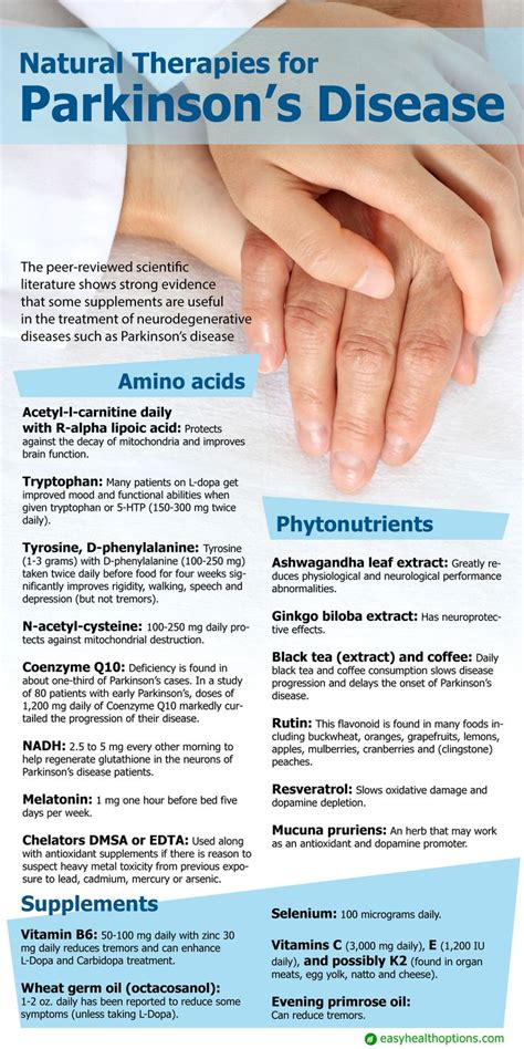 Wellness Detox Center Parkinsons by Therapies For Parkinson S Disease Infographic