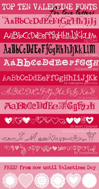 best valentines letter fontaholic top ten fonts for letters