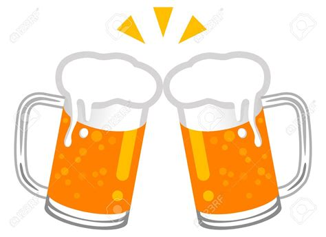 cartoon beer beer toast clipart