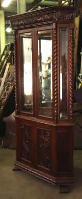 carved wood corner china cabinet at 1stdibs