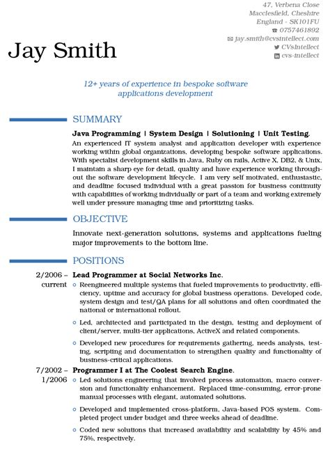 Sle Resume For Web Designer Experience Resume Format For 1 Year Experience Dot Net Developer 28 Images 1 Year Experience Resume