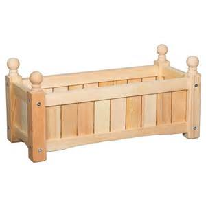 24 inch rectangle solid wood planter box