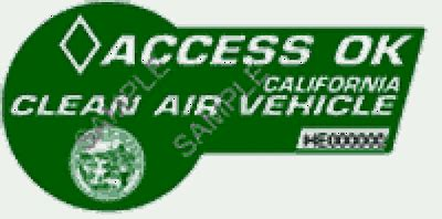 California Hov Sticker