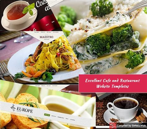 Excellent Cafe And Restaurant Website Templates Entheos Restaurant Website Templates