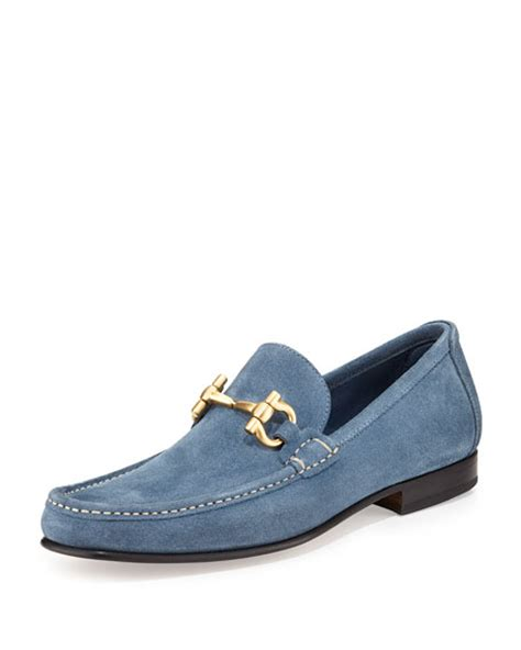 salvatore ferragamo giordano loafer salvatore ferragamo giordano suede gancini loafer light blue