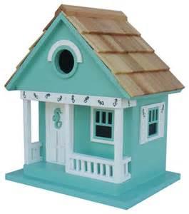 Sea horse cottage birdhouse aqua beach style birdhouses by home