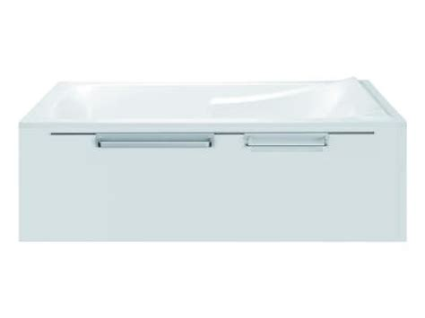 tablier baignoire pvc tablier frontal d 233 cor pvc avec rail et accessoires pour