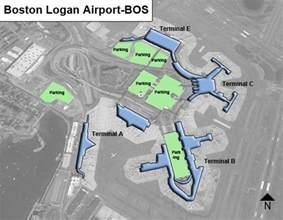 Boston Terminal Map by Boston Logan Bos Airport Terminal Map