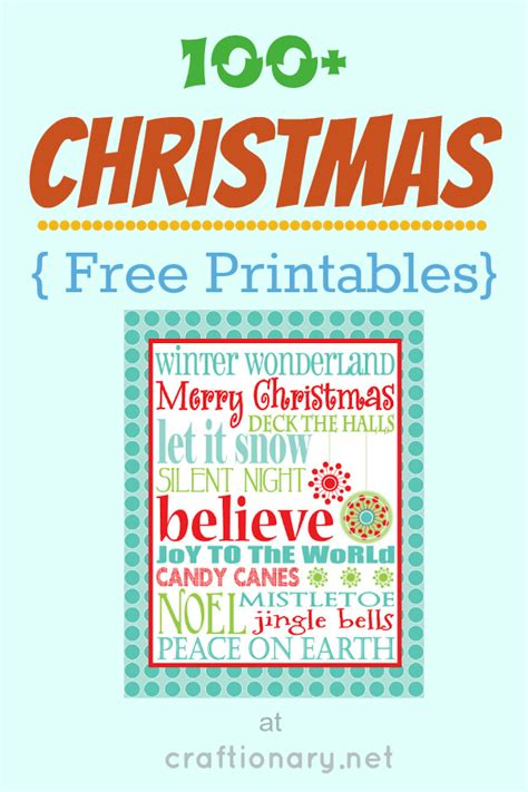 christmas diy decorations printouts craftionary
