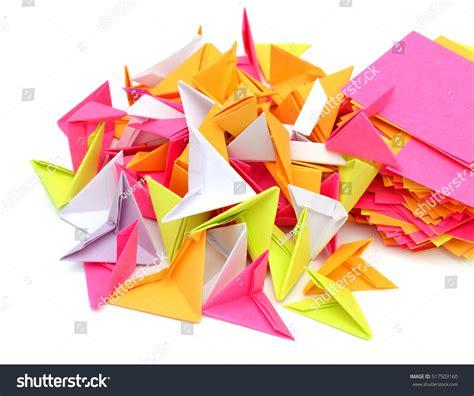 Handmade Origami Paper - handmade origami swan paper stock photo 517503160