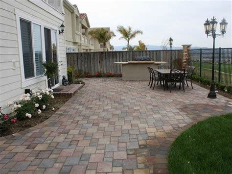 Backyard Patio Pavers Back Yard Concrete Patio Pavers Patio With Pavers