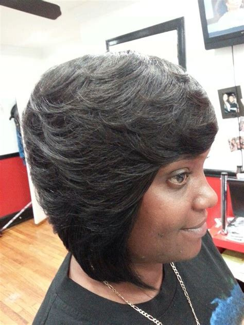 feathered weave bob hairstyle feathered bob quick weave pictures short hairstyle 2013